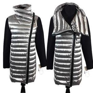 Calvin Klein Gray Rib Knit Puffer Down Jacket